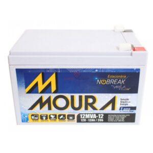 bateria de nobreak 12v 12ah moura ups selada vrla