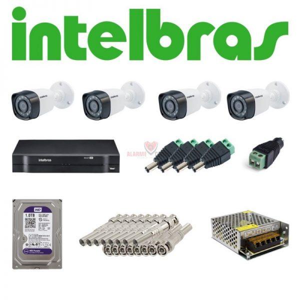 Kit 4 cameras Intelbras